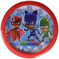 PJ Masks 10 Round Wall Clock Red Analog Home Decor Birthday Gift