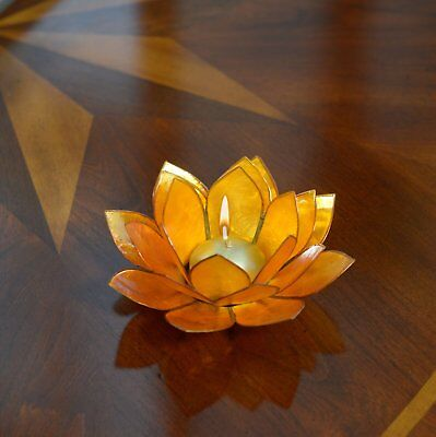 Lotus Flower Candle Holder With Jewel Encrusted Case - Yellow](Candle Character)