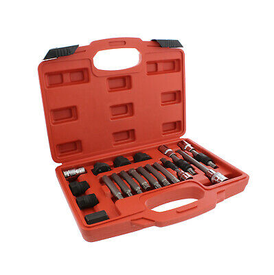 - ABN Alternator Pulley Decoupler 18-Piece Socket Set – Pulley Removal Tool Kit
