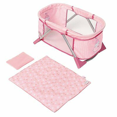 BABY ANNABELL TRAVEL BED COT FOR DOLLS BRAND NEW FOR AGES 3 YEARS AND UP for sale  Shipping to Ireland