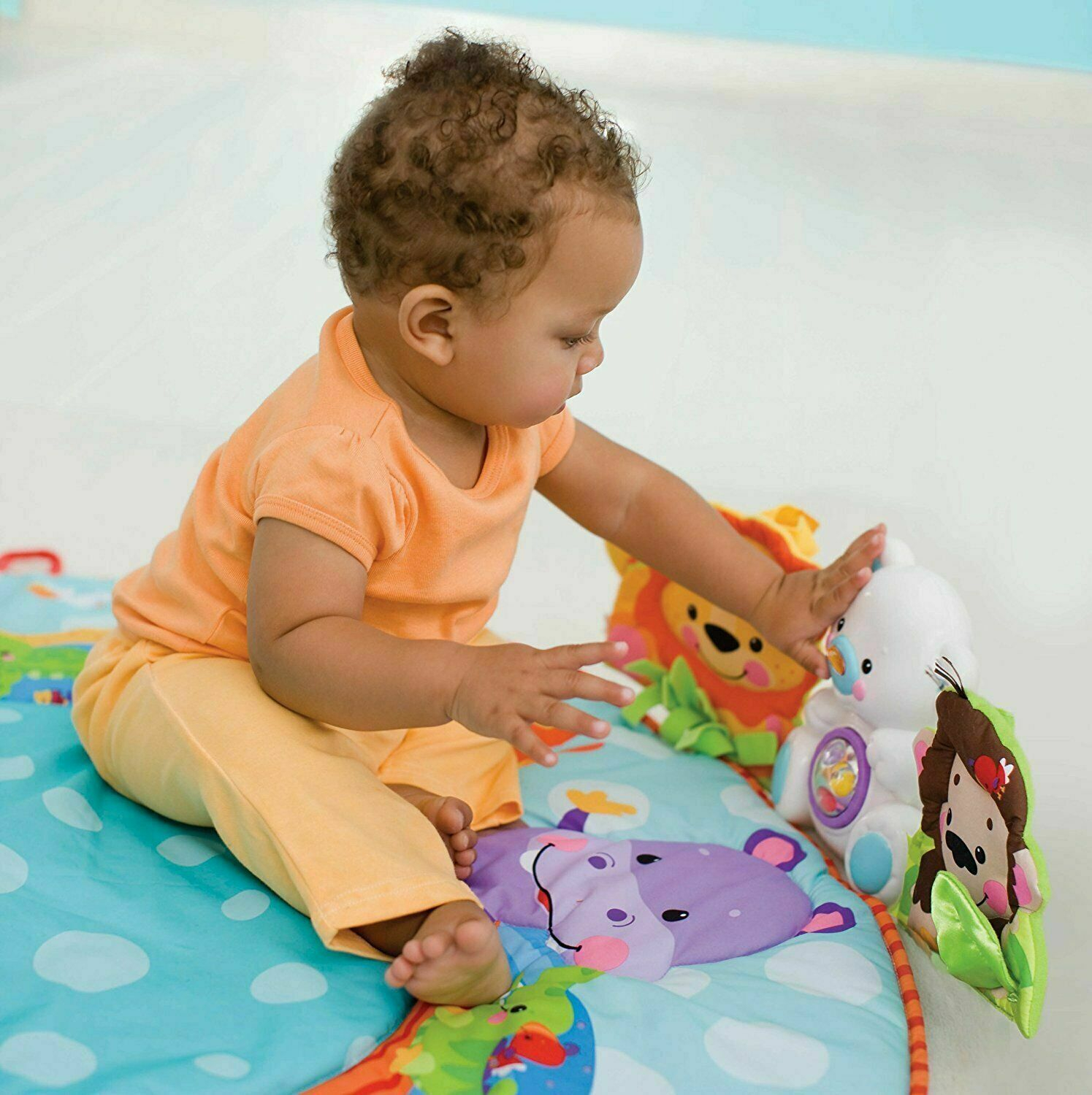 30 Balls UK Safety Guard Lion Shaped Baby Play Arch Mat Gym Cradle Dangle Toys