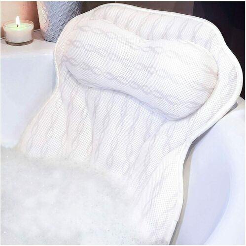 Bath Pillow Luxury Bathtub Pillow Ergonomic Bath Pillows Tub Neck Back Support