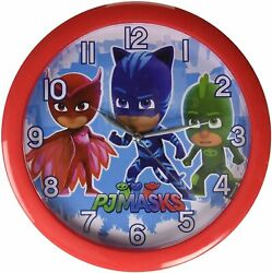 4SGM PJ Masks 10 Round Wall Clock Standard, Multicolor