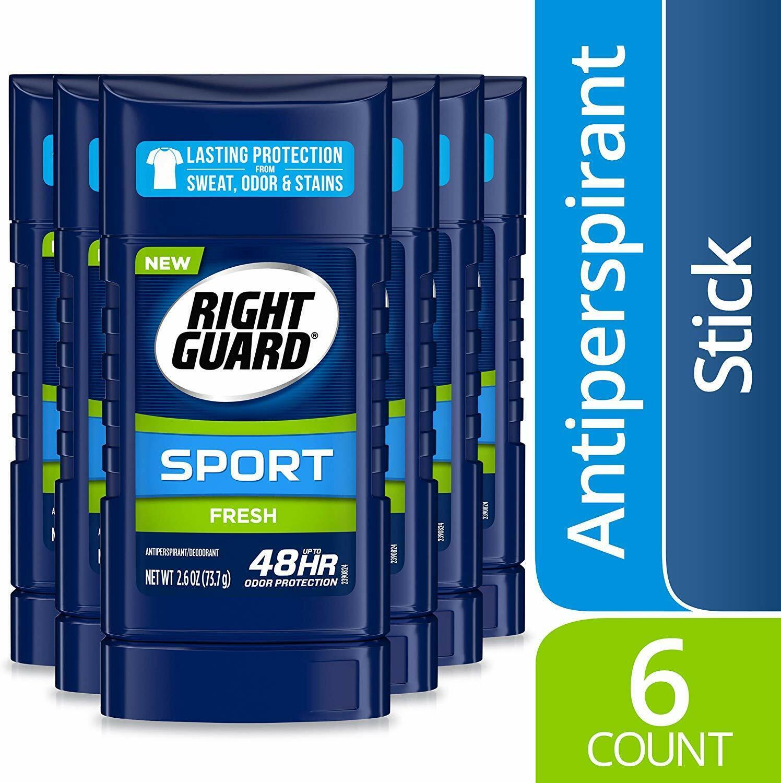6 pack Right Guard Sport Antiperspirant Deodorant Invisible