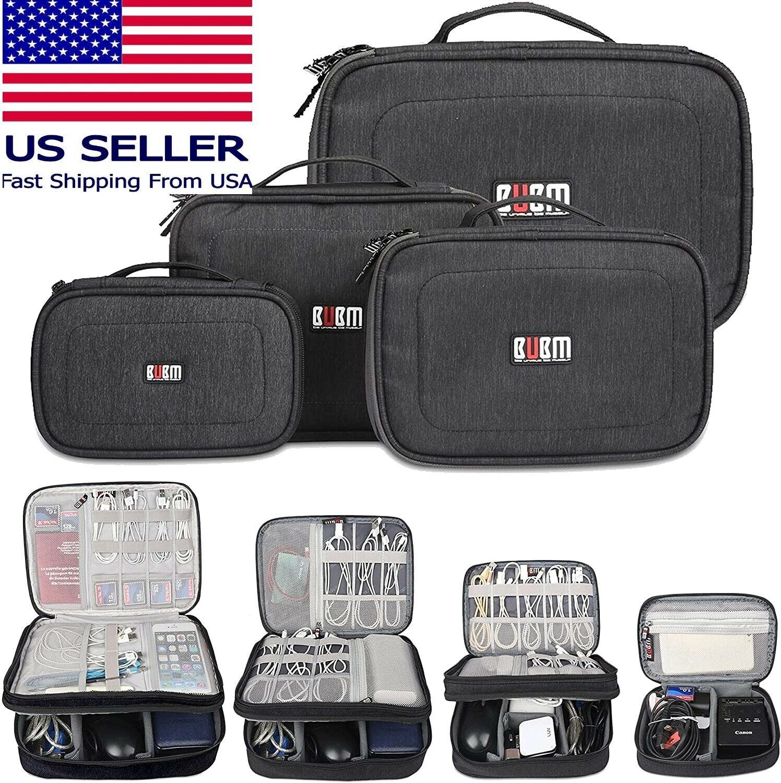 BUBM 4Pc Electronic Travel Case Bag Set -Cables, Flash Drives, Mouse, Power Bank Home & Garden