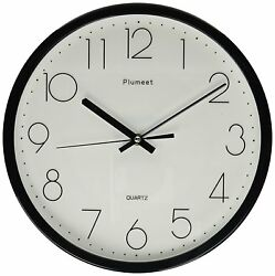 12 Non Ticking Silent Wall Clock with Modern and Nice Design for Living Room