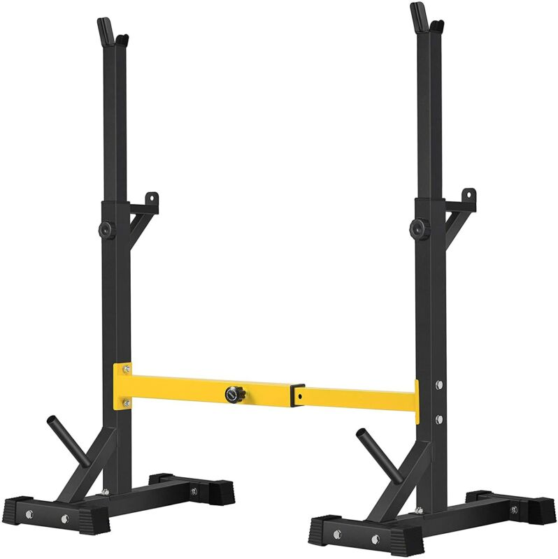 BangTong&Li Pair of Squat Rack Stand Barbell Free Press Bench Home Gym Dumbbell