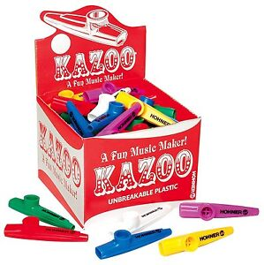 Hohner KC 50 Kazoos of Assorted Colors, 50 Pack