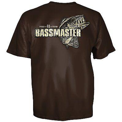 Bassmaster Bass Fishing Patch Master Chocolate Short Sleeve T Shirt