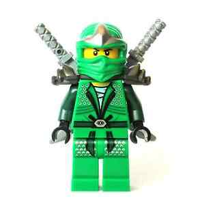 LEGO green ninja Ninjago Lloyd ZX Minifigure with 2 swords new