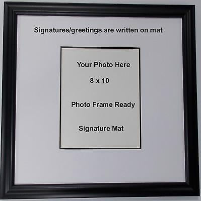 Wedding signature mat personalized guest book picture frame fits 8x10 photo wall