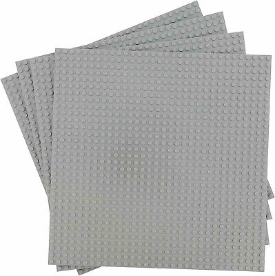 "4 Pcs Gray 10""x10"" building Baseplate 32x32 Base Plates Fits LEGO Classic Bricks"