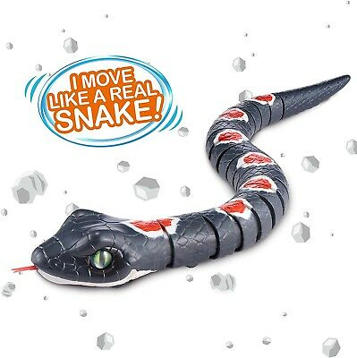 ZURU Robo Alive Real-Life Robotic Pets Black & Red Slithering Snake NEW IN BOX