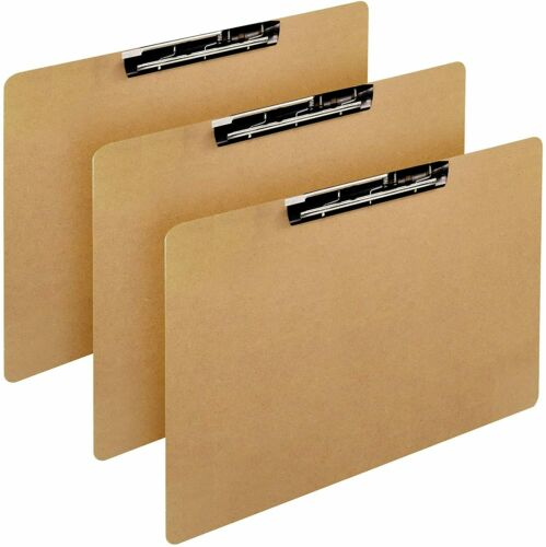 11x17 Inch Ledger Hardboard/Clipboard with 1 Lever Operated Clip. (3 Pack)