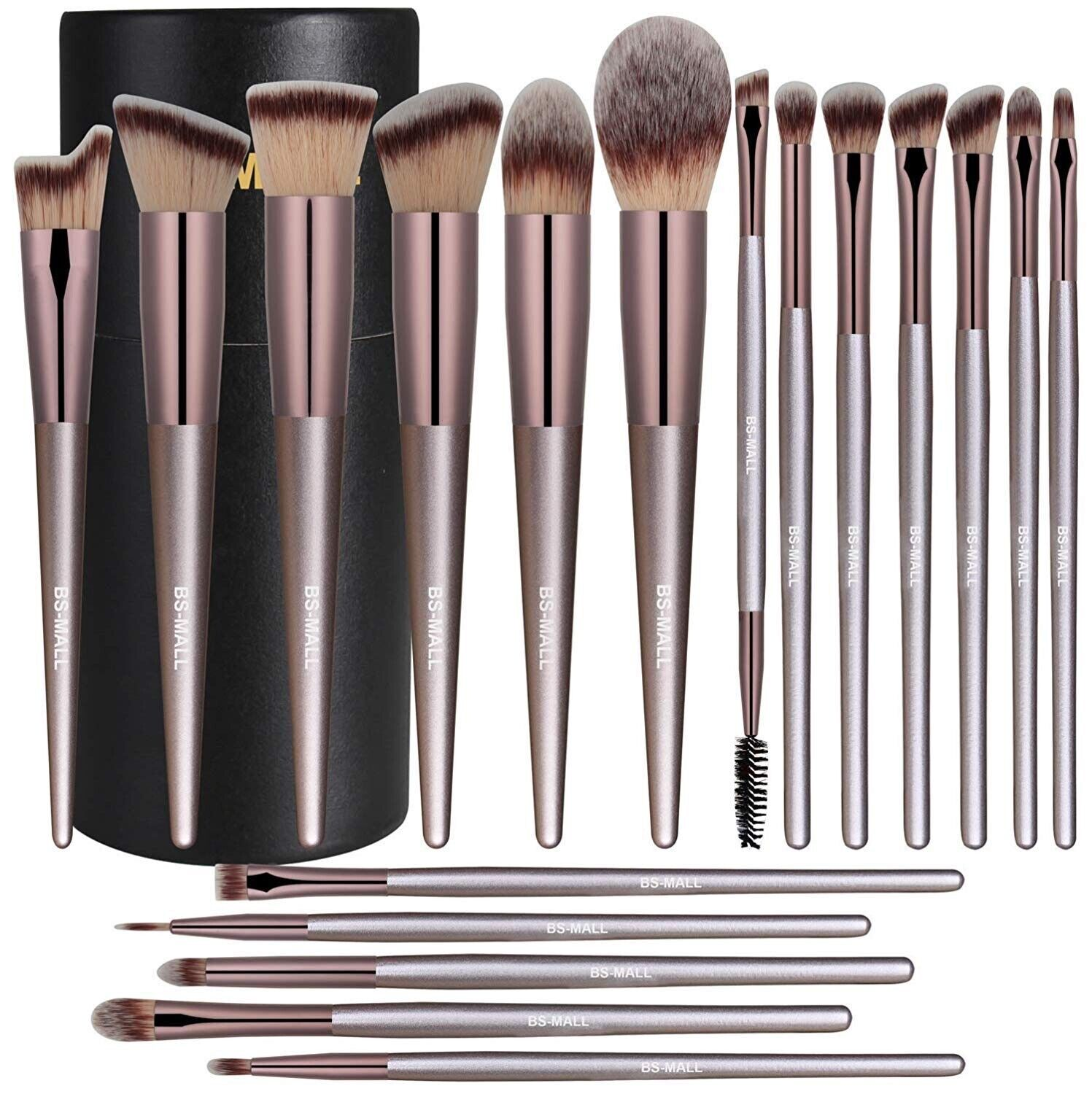 BS-MALL Makeup Brush Set 18 Pcs Premium Synthetic Foundation