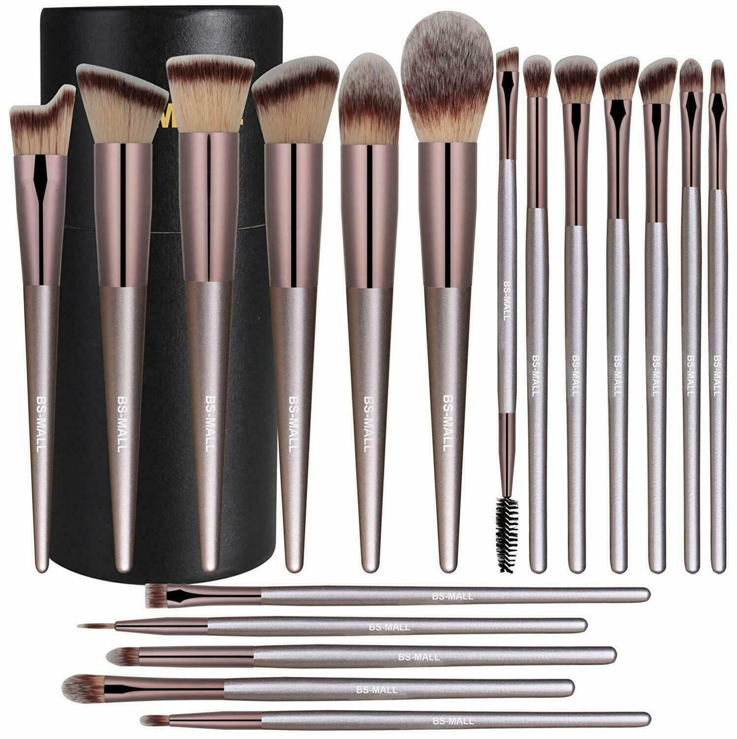 Makeup Brush Set Professional Soft Brushes Liquid Powder Ble