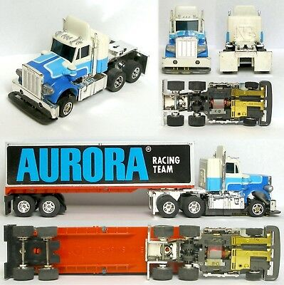 1979 Aurora Speedsteer TCR Peterbilt Tractor & Trailer Slot Car Unused Rig Truck
