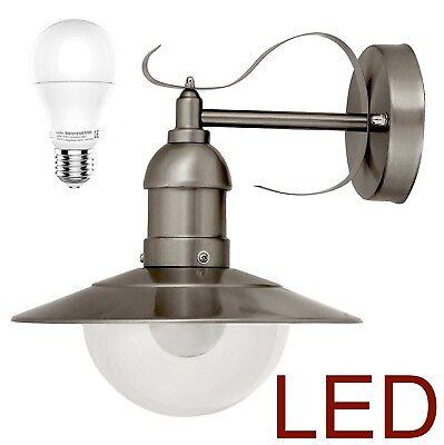 LED Edelstahl Wand-Außenleuchte Hoflampe Wandlampe IP44 - Rabalux Oslo 8270