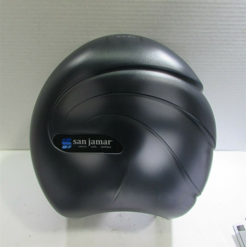 "San Jamar Jumbo 9"" Roll Tissue Dispenser; R2090TBK"