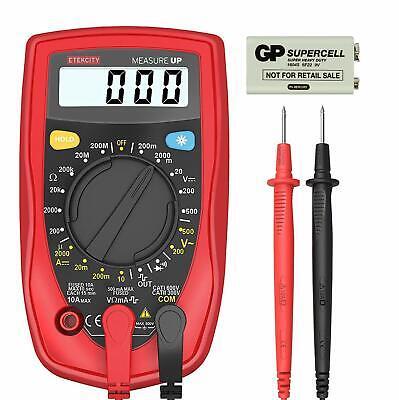 Multimeter Digital Meter Amp Ohm Voltmeter Tester Fluke Batter Lcd Acdc