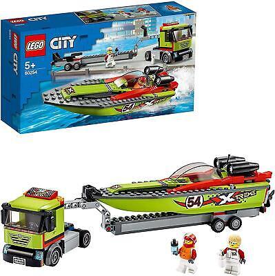 LEGO60254CityGreatVehiclesRaceBoatTransporterTruck,Trailer& Speedboat