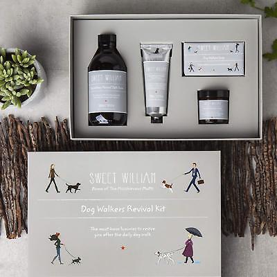 Dog Walkers Revival Kit : Hand Cream, Bath Foam, Soap, Foot Cream : Great Gift