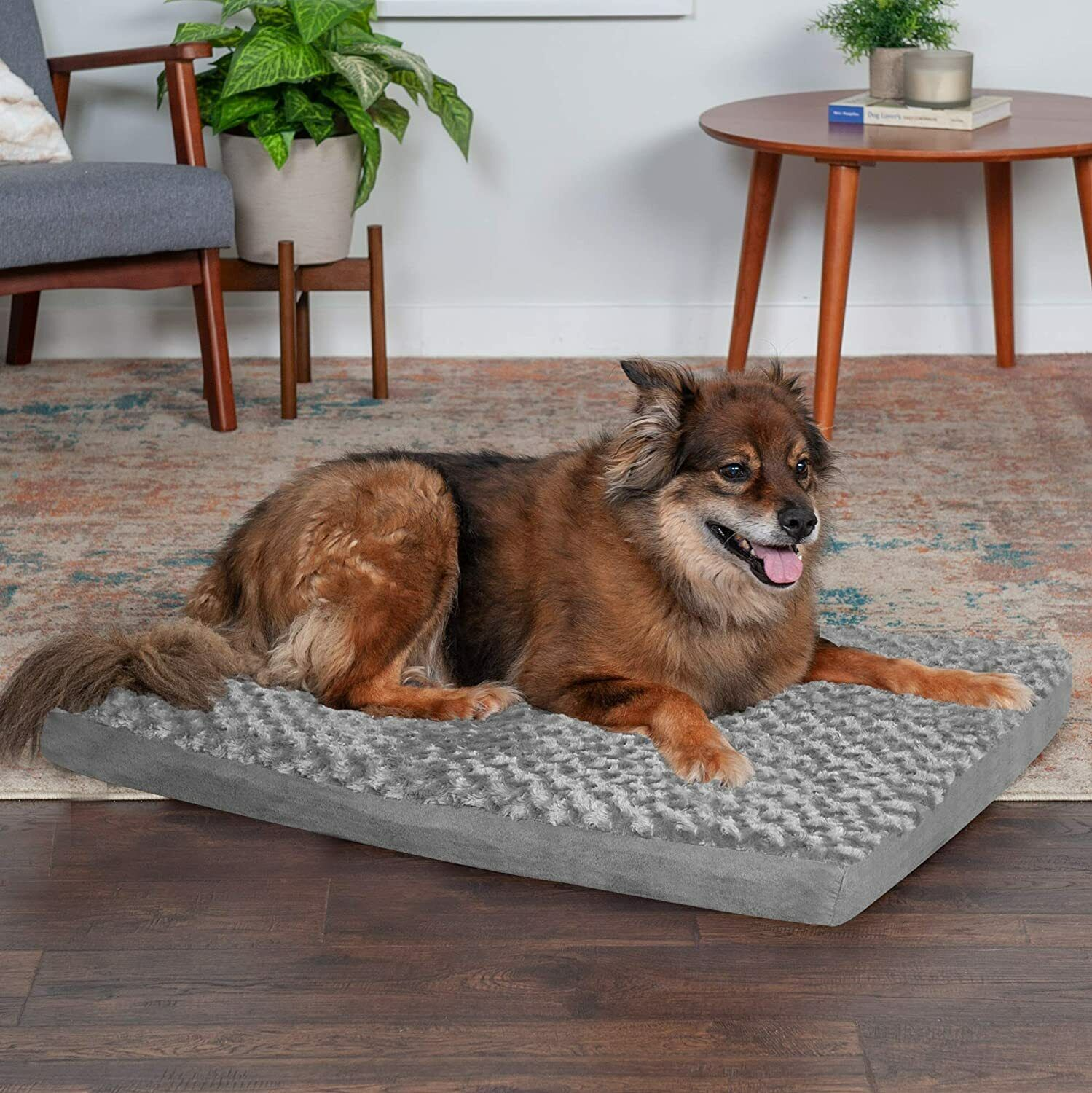 Furhaven Orthopedic Cooling Gel Memory Foam Pet Bed For Dogs, Cats - Gray - $28.95