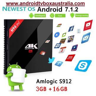 3/16GB H96 PRO Plus Android 7.1 TV Box S912 KODI 17.4 krypton BT