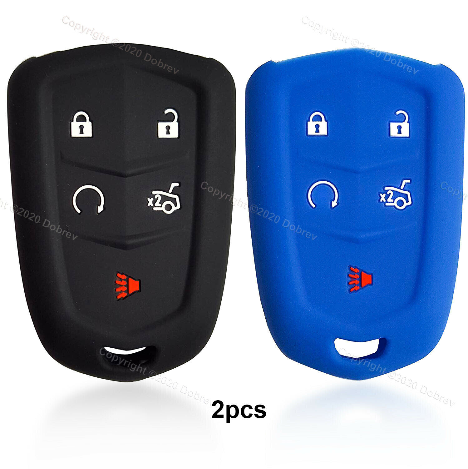 2pcs 5B Rubber Silicone Case Protector Holder Fob Cover