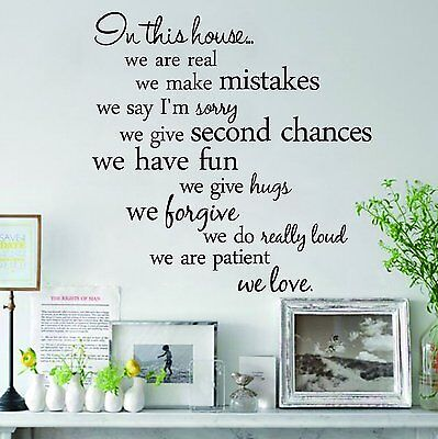 Removable Wall Decal Vinyl Art Mural Home Room Decor Quote Stickers Words Family