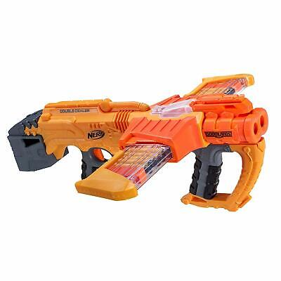 Double Dealer Nerf Doomlands Toy Blaster with Two 12-Dart Clips