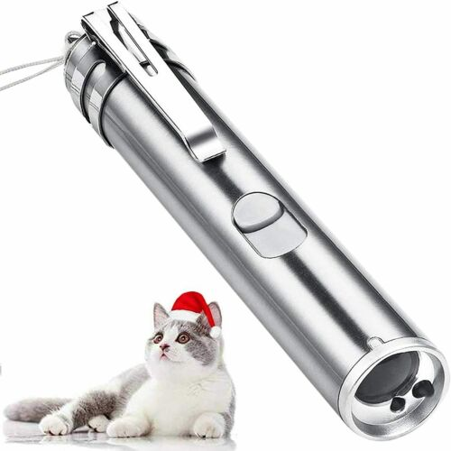 USB RECHARGEABLE SUPER LASER POINTER  PEN 3 in 1 Cat Pet Toy Red UV Flashlight