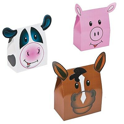 Farm Animal Party Favors (Farm Animal Design Party Favor Boxes / Assorted Styles (Pack Of)