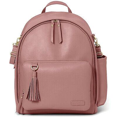 Skip Hop Diaper Bag Backpack, Greenwich Multi-Function , Dusty Rose
