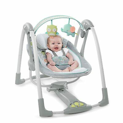 Ingenuity Swing 'n Go Portable Baby Swing Hugs & Hoots