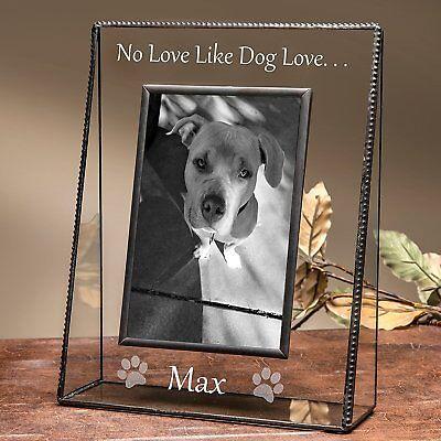 J Devlin Pic 319-46V EP592 Personalized Dog Vertical Engraved Picture Frame 4x6  (Dog Picture Frame Vertical)
