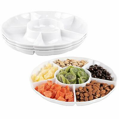 Impressive Creations White Round Plastic Serving Tray - White Plastic Serving Trays