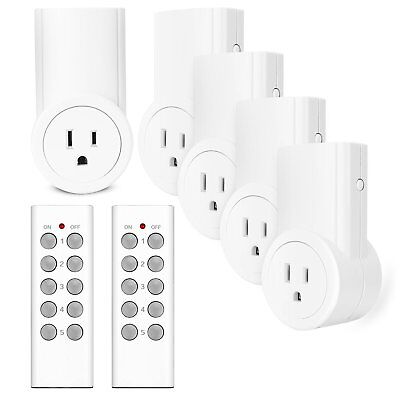 Etekcity Remote Control Outlet Kit Wireless Light Switch for