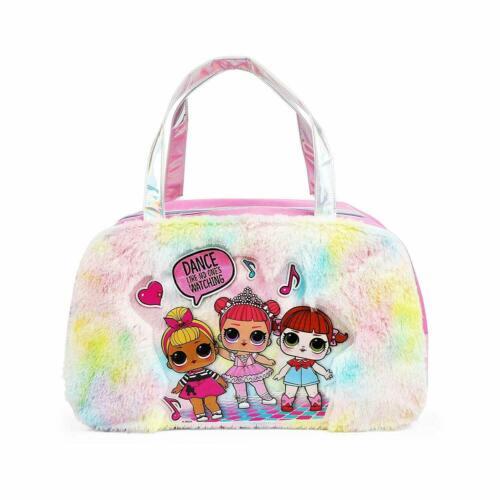 "New  LOL Surprise Fur Rainbow Duffel Bag for Girls 18"""
