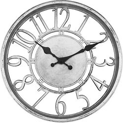 12 INCH ROUND WALL CLOCK SILENT NON TICKING QUARTZ BATTERY DECORATIVE GIFT HOME