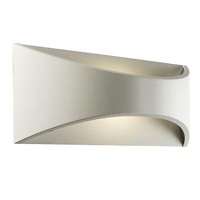 VULCAN Curved LED Wall Light - Matt White - 300mm Wash Uplighter Waterproof IP65