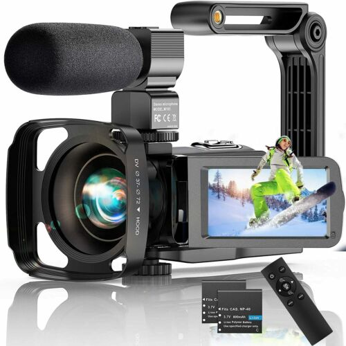 4K Video Camera 56MP 30FPS IR Night Version WiFi Vlogging 18X Zoom 2.4G Remote