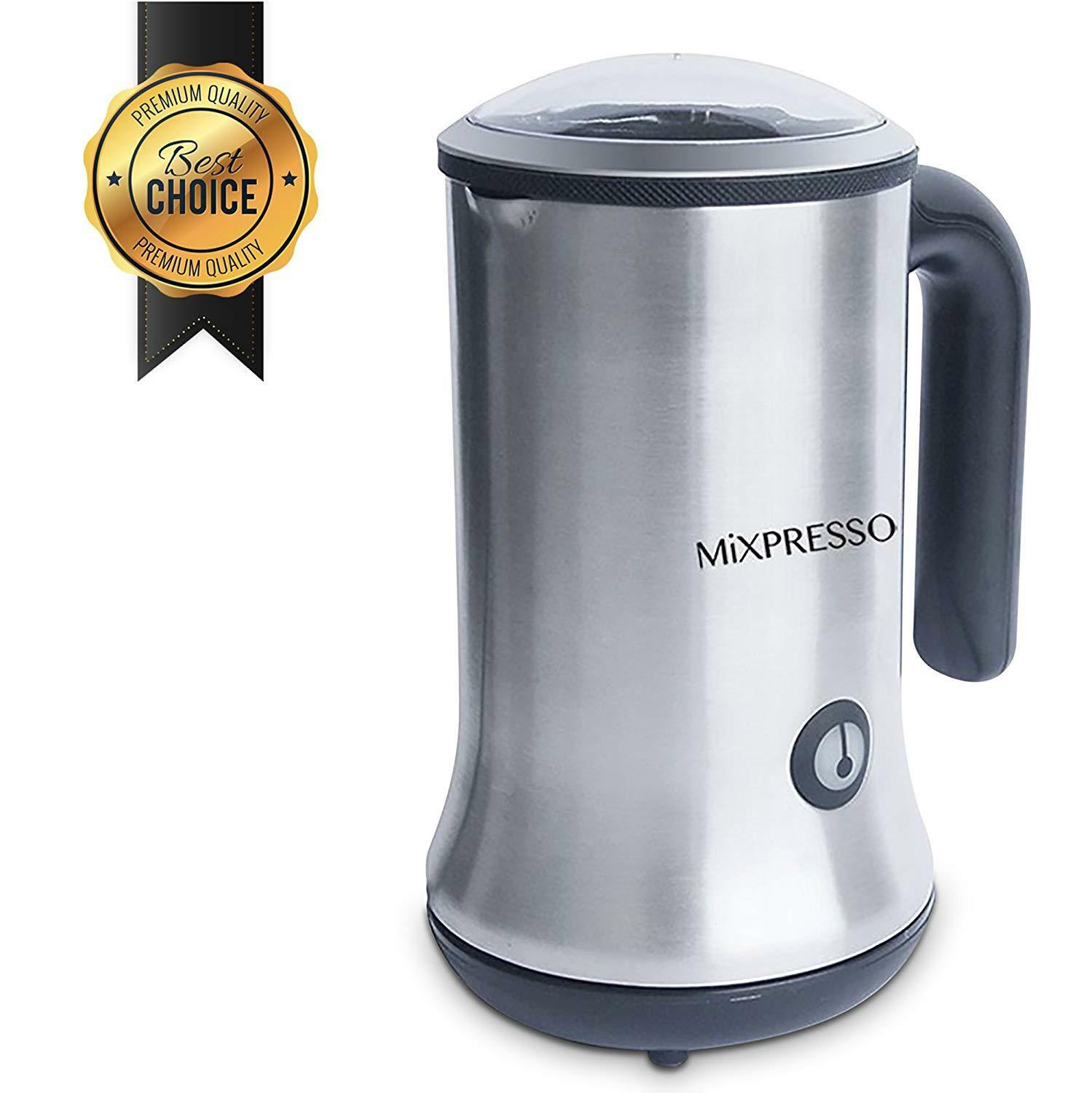 Mixpresso Stainless Steel Electric Milk Frother and heater w