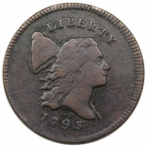 1795 Liberty Cap Half Cent, Plain Edge, Punctuated Date, C-4, R3, VF detail