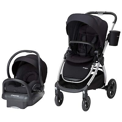 Maxi-Cosi Adorra 2.0 5-in-1 Modular Travel System with Car Seat (Night Black)
