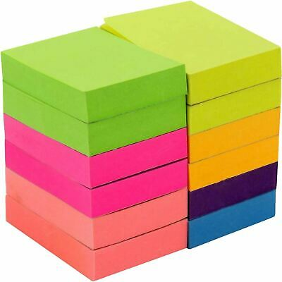 Self Sticky Notes Pop Up Memo Reminder Neon Assorted Colors 12 Pads 100 Sheets Colored Sticky Notes