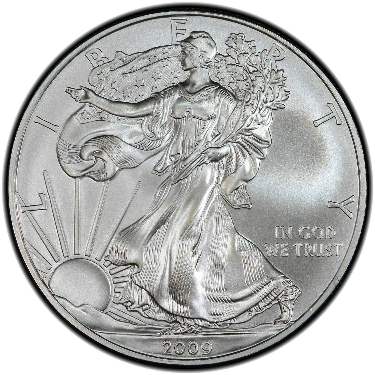 2009 US Mint Silver Eagle 1 Coin From Original Mint Roll 1 Oz .999 Fine - $37.00