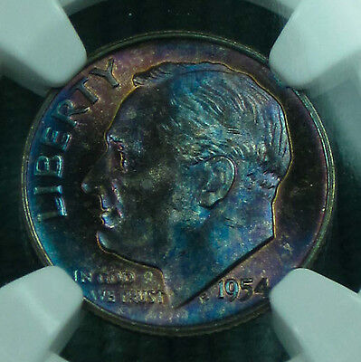 Click now to see the BUY IT NOW Price! TONED 1954 D ROOSEVELT MS 67 FT NGC