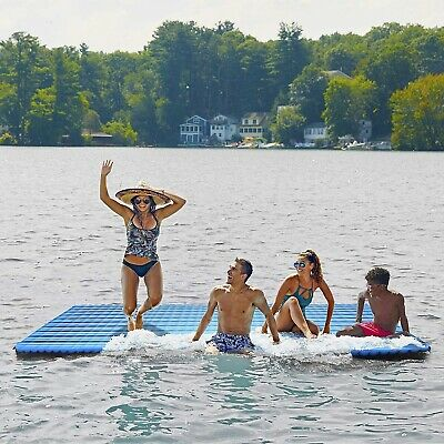 Floating Platform Inflatable Raft Pool Expand Swimming Lake Dock Water Party  - Inflatable Party Raft