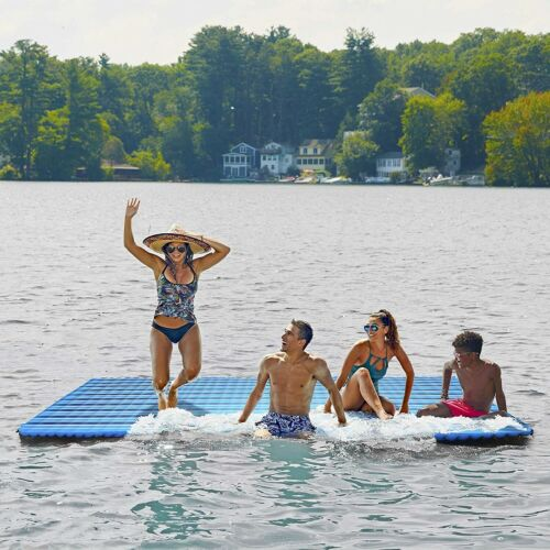 Floating Raft Platform Inflatable Pool Expand Swimming Lake Dock Water Party